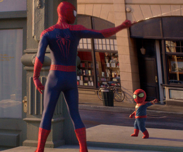evian spiderman reclamespot baby and me